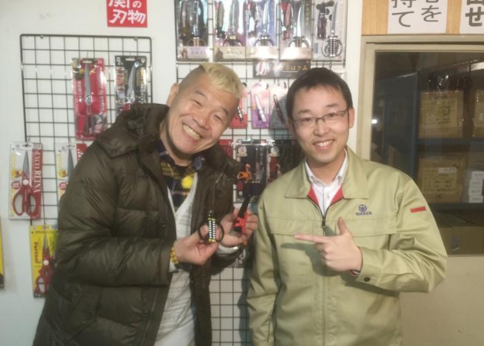 """メ~テレ""""ウドちゃんの旅してゴメン""""にて、おみやげグランプリ2016のグランプリ品「日本刀はさみ」が取り上げられました。"""