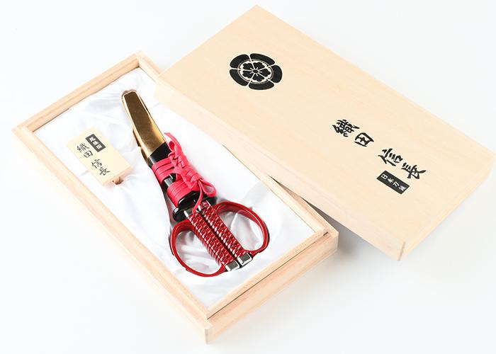日本刀はさみ 織田信長モデル(越前本漆)