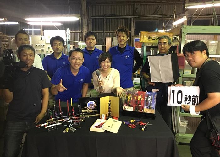 NHK番組「まるっと!岐阜」に当社社員が日本刀はさみの紹介で生出演しました。